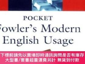二手書博民逛書店Pocket罕見Fowler s Modern English UsageY464532 Robert All
