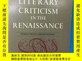 二手書博民逛書店Literary罕見Criticism in the Renai