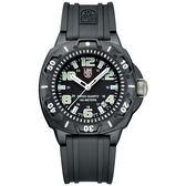 入門推薦 海豹部隊前哨系列美國限定版腕錶-黑x螢光時標/43mm LUMINOX 雷明時