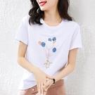 2件】白色短袖t恤女士夏裝2021年新款純棉韓版寬鬆洋氣ins潮上衣【快速出貨】
