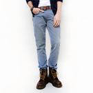 SISJEANS-仿舊輕刷色修身色染牛仔褲(鋼藍灰)【SISMJ007】