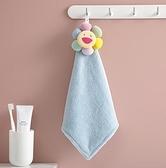 兒童手帕 吸水=可掛式太陽花卡通珊瑚絨加厚小毛巾抹布可愛兒童搽手帕【快速出貨八折下殺】