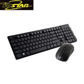 T.C.STAR 連鈺 TCK910BK 黑色無線鍵盤滑鼠組 (TCK910+TCN535)