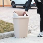 塑料辦公室酒店商用環衛無蓋有蓋廚房工業垃圾桶 FR11135『男人範』