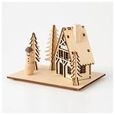 聖誕LED木質燈飾 WOOD DIORAMA 小木屋 NITORI宜得利家居