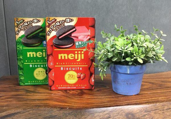 日本 Meij 明治 夾心巧克力餅 草莓/抹茶(96g) ◎花町愛漂亮◎DL