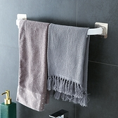 【BlueCat】無痕浴室廁所單桿毛巾架 浴巾架 拖鞋架 免釘 免打孔 掛架 抹布架 毛巾桿 置物架