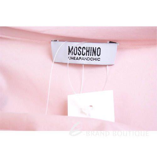 MOSCHINO 荷葉抓摺短袖上衣(粉色) 1220517-05