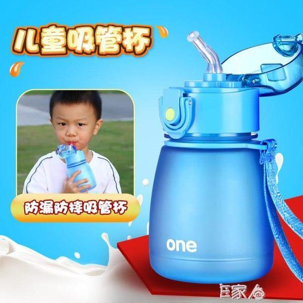 兒童水杯寶寶帶吸管杯防摔