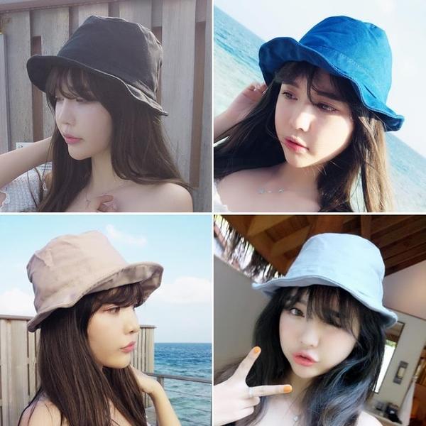 [協貿國際]英倫黑色小禮帽遮陽帽折疊漁夫盆帽沙灘帽子1入