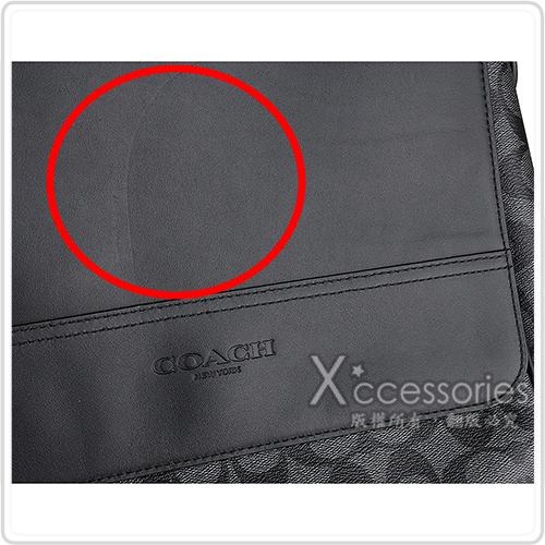 COACH 壓印LOGO PVC方形掀蓋式斜背包(展示品/黑)