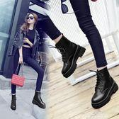 馬丁靴 子女款新款短靴春季韓版百搭學生原宿英倫風鞋子潮 早秋低價促銷