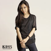 【BTIS】拼接上衣 / 黑色