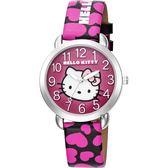 HELLO KITTY 凱蒂貓 愛心滿滿卡通女錶-粉紅x36mm LK689LWMB