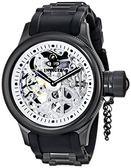 【INVICTA】簍空機械腕錶 - 52mm 銀黑色