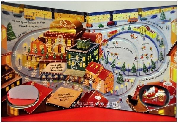 【麥克書店】全新再版耶誕車車遊戲書 SANTA CHRISTMAS JOURNEY /軌道書