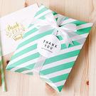 【BlueCat】綠色橫條紋包裝 紙盒 ...