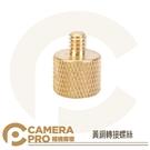 ◎相機專家◎ CameraPro 黃銅轉接螺絲 轉接頭 3/8 轉 1/4 螺絲 適用腳架 雲台 燈架 支架