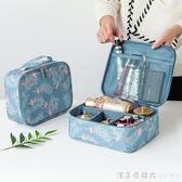 化妝包小號便攜韓國簡約大容量多功能收納袋隨身旅行少女心洗漱包 漾美眉韓衣