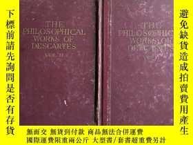 二手書博民逛書店The罕見Philosophical Works of Descartes 笛卡兒哲學著作集(第1.2卷)(V02