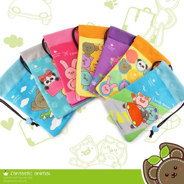 Miravivi 可愛動物狂想曲經典系列雙層束口袋-繽紛彩色泡泡