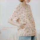 棉麻衫 向陽的花拼貼口袋棉麻衫 二色-小C館日系