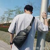 胸包男士皮質小挎包商務皮質ipad休閒街頭便攜帶單肩包 全館免運