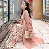 秋冬季新款慵懶風毛衣外套女中長款網紅寬鬆外穿軟糯針織開衫