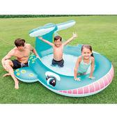 Intex 大鯨魚噴水充氣泳池(208cm)【愛買】