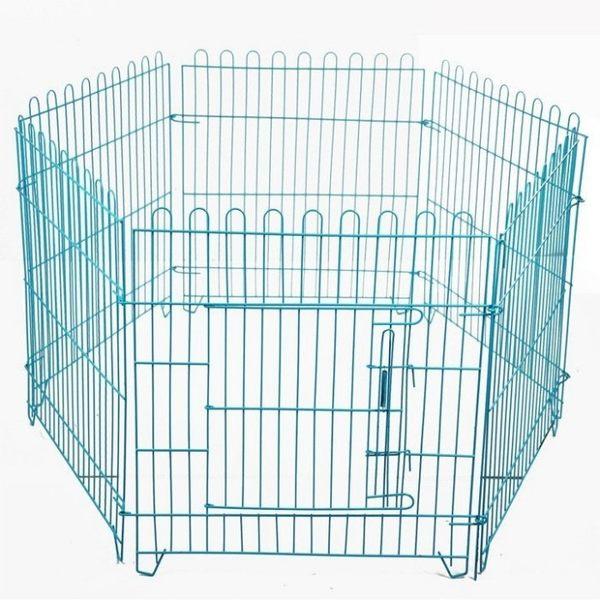 寵物鐵絲柵  狗籠子 中小型犬可用 送固定吸盤6個紮帶6根【藍星居家】