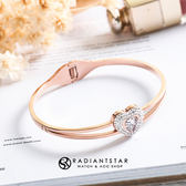 [鈦鋼]婚禮的祝福心願璀璨愛心手鐲手環【KTL439】璀璨之星☆