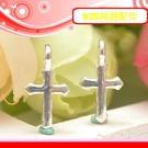 銀鏡DIY S925純銀材料配件/經典祈福十字架C~適合手作蠶絲蠟線/幸運衝浪繩(非316白鋼or合金)