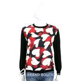 BOUTIQUE MOSCHINO 黑色蛇紋心型印花拼接上衣 1710593-01