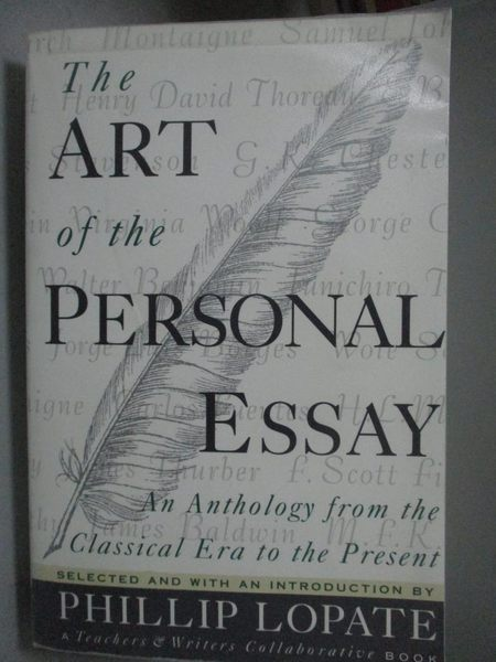 【書寶二手書T3/短篇_QED】The Art of the Personal Essay: An Anthology