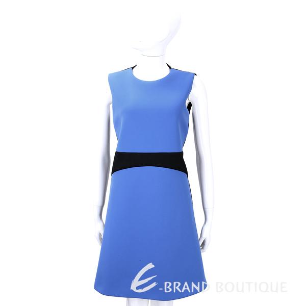 SI-JAY 藍x黑色拼接剪裁無袖洋裝 1540060-80