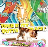 貓咪寵物貓瓦楞紙貓沙發貓抓板SMY1059【123休閒館】