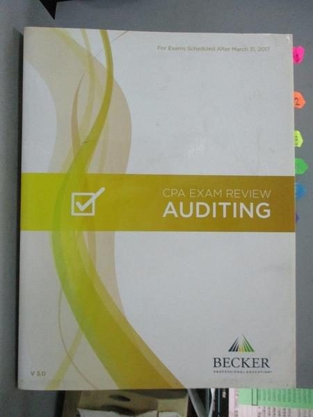 【書寶二手書T1/進修考試_WFQ】Becker Professional Education..-Auditing V3...