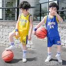 男童套裝中大小童運動套裝夏季男女23籃球...