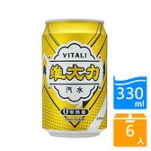 維大力零熱量汽水330MLx6【愛買】
