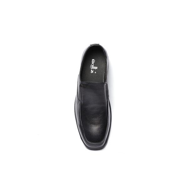 Waltz-社會新鮮人基本素面套式皮鞋612062-02黑