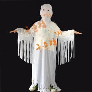 萬聖節服裝萬聖節用品僵屍服邪教白色鬼衣服(兒童)216g