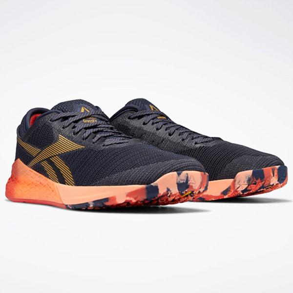 REEBOK NANO 9 男鞋 訓練 舉重 健身 穩定 支撐 舒適 透氣 黑 橘【運動世界】EG0600
