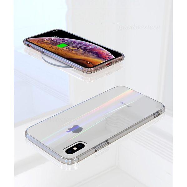 6D弧度極光玻璃殼 iPhone XS XSMax XR i7 i8 i6 i6s plus 手機殼 裸機手感 弧邊透明軟框 全包邊防摔殼