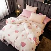 超柔細緻雪花絨保暖毯-小草莓【BUNNY LIFE 邦妮生活館】