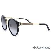 GUCCI 太陽眼鏡 GG0588SA (黑-金) 日本製 圓框 墨鏡 久必大眼鏡