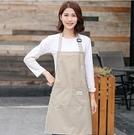 圍裙 韓版時尚圍裙女可愛廚房成人防水防油工作服罩衣圍裙定制logo 星際小舖
