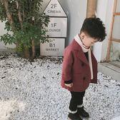 黑五好物節 男童2018秋冬新款兒童寶寶加厚呢子大衣外套韓版雙面呢中長款風衣【一條街】