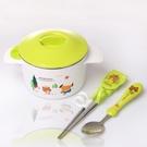 寶寶注水保溫碗兒童吃飯碗不銹鋼小孩餐具防摔嬰兒輔食碗筷勺套裝-享家生活館