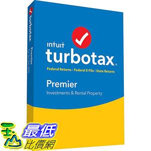 [106美國直購] 2017美國暢銷軟體 Intuit Turbotax Premier 2016 Federal and State Fed Efile PC MAC Disc