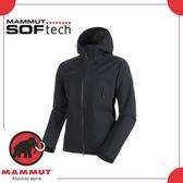 【MAMMUT AC Masao SO Jkt 男《黑》】1011-00460-0001/保暖外套/防風/連帽外套/軟殼